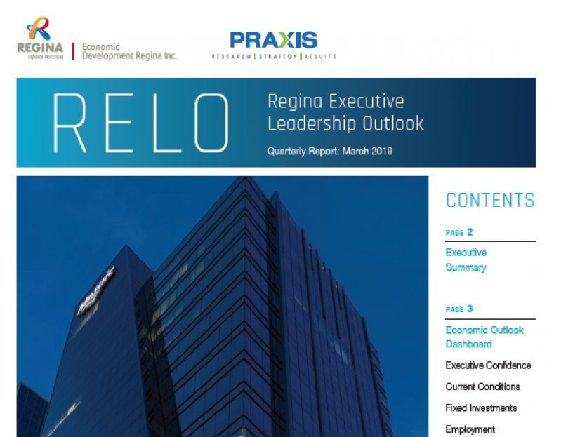 When compared to the last quarter of 2018, our latest Regina Executive Leadership Outlook (RELO) shows an increase in the percentage of executives believing the economy will perform better in the next 12 months.